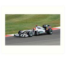 Mercedes MGP W01, Michael Schumacher Art Print