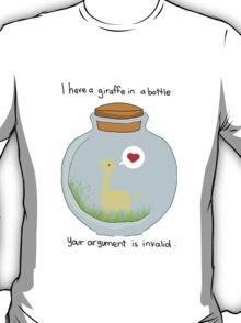 Giraffe in a bottle T-Shirt