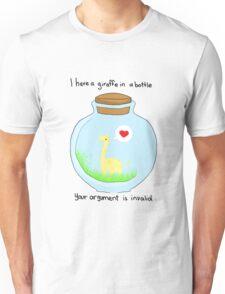 Giraffe in a bottle Unisex T-Shirt