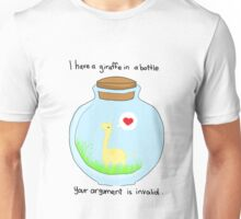 Giraffe in a bottle Unisex T-Shirt