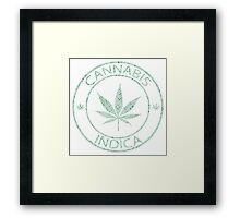 Cannabis indica stamp Framed Print