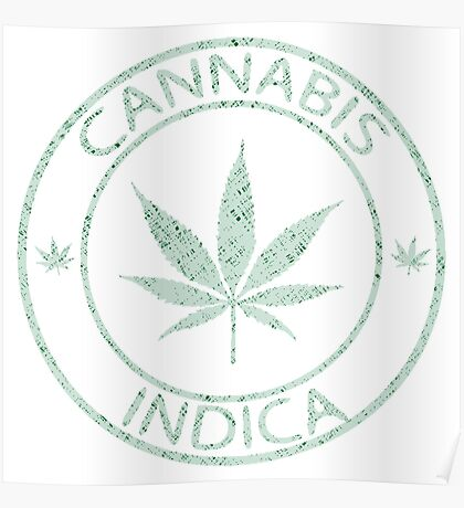 Cannabis indica stamp Poster