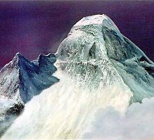 NANDA DEVI PEAK AT NIGHT by PRIYADARSHI GAUTAM