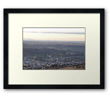 Bacchus Marsh Valley on a cold frosty Dawn Framed Print