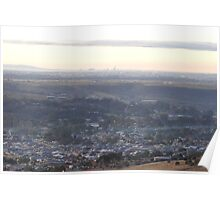 Bacchus Marsh Valley on a cold frosty Dawn Poster