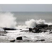 Rock Splashing Photographic Print