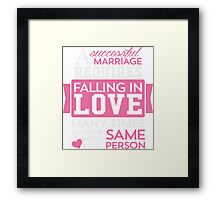 Falling In Love T-shirt Framed Print