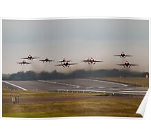 Red Arrows Take Off Poster