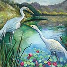 Egrets by Duckydaddles