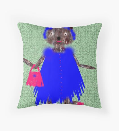 grandmother mathilda maude maybe mad Throw Pillow