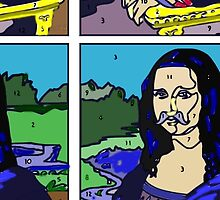 Cartoon Strip Mona Lisa by Alison Pearce