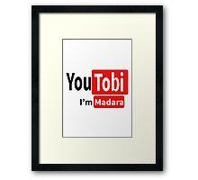 Tobi-Madara t shirt, iphone case & more Framed Print