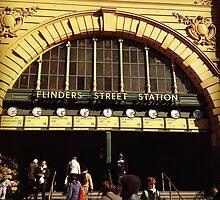 Flinders Street railway station by Mimi Huang