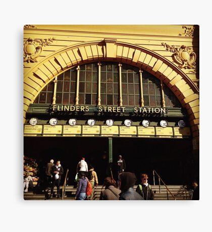 Flinders Street railway station Canvas Print