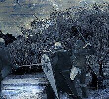 Encounter in the swamp by Steve  Woodman
