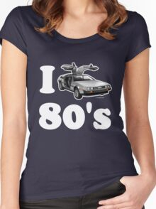 I LOVE (or DRIVE for that matter) 80's Women's Fitted Scoop T-Shirt