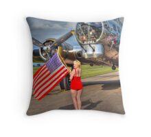 Yankee Girl Throw Pillow