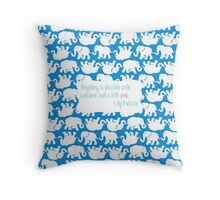 Lilly Inspired Sunshine Pink Quote Tusk in Sun Blue Throw Pillow