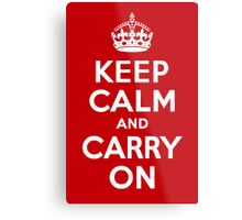Keep Calm & Carry On - Red Metal Print