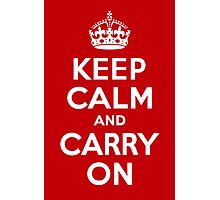 Keep Calm & Carry On - Red Photographic Print