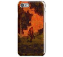 Bigfoot Wandering by Sarah Kirk iPhone Case/Skin