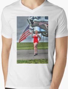 Yankee Girl 3 Mens V-Neck T-Shirt