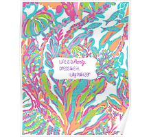 Lilly Inspired Party Quote Scuba to Cuba Poster