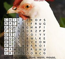 Animals around the house. Word Search Puzzle with a message. by Esther's Art and Photography
