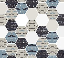 hexagon hipster background by demonique
