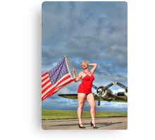 Yankee Girl 4 Canvas Print