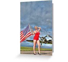Yankee Girl 4 Greeting Card