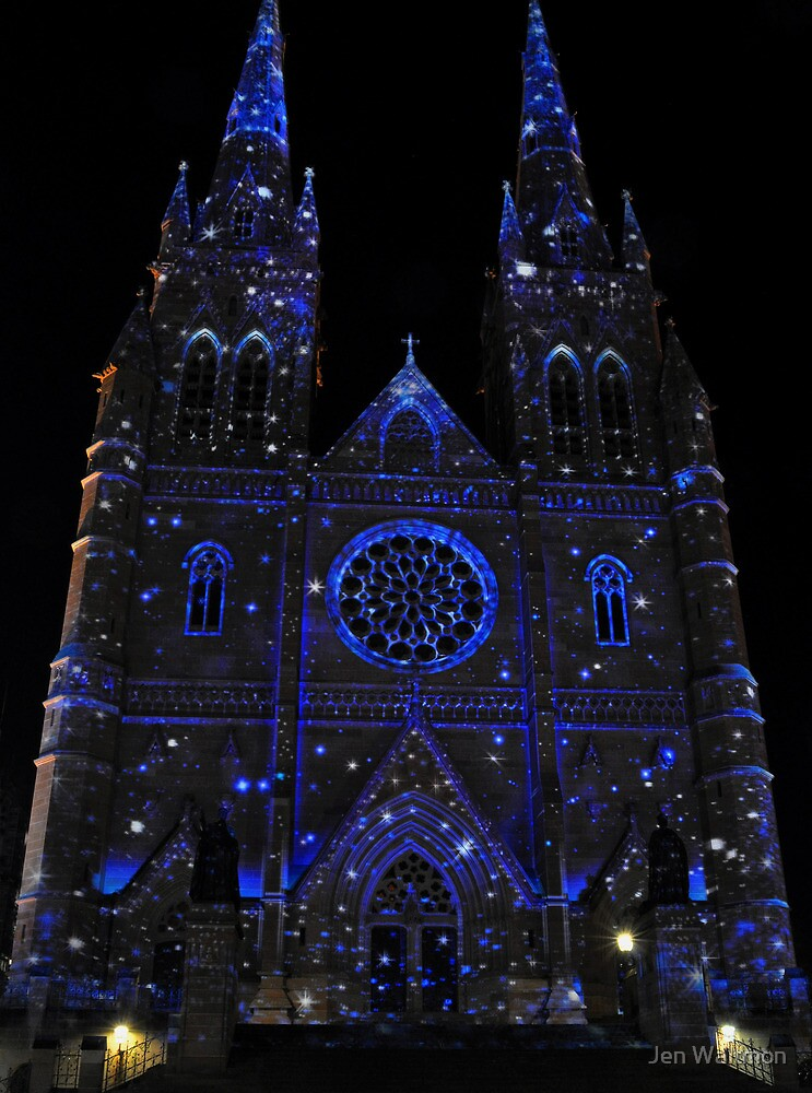 St. Mary's Cathedral Vividly Lit Up with Stars by Jen Waltmon