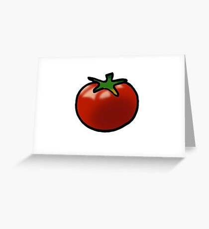 Fresh red juicy tomato Greeting Card