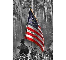 DADE'S BATTLE RE-ENACTMENT FLAG BEARER Photographic Print
