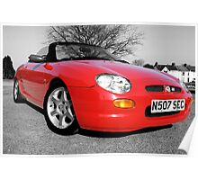MG MGF Red Poster