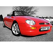 MG MGF Red Photographic Print
