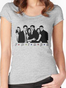 Friends TV show (Pricks!) Women's Fitted Scoop T-Shirt