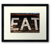 EAT at NEATH Framed Print