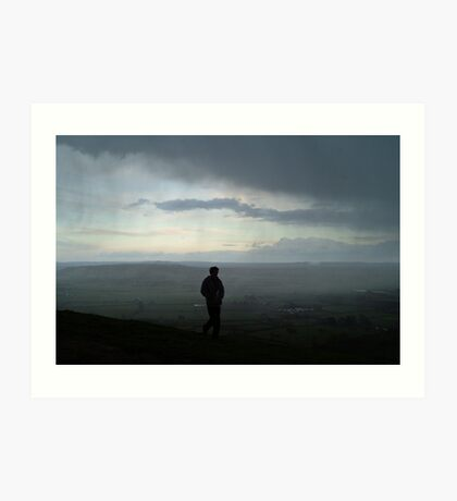 Cold, windy storm over Glastonbury Tor Art Print