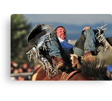 Cowboy - Going for the 8 second mark Canvas Print