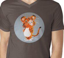 Cute Tiger Cub Mens V-Neck T-Shirt