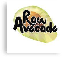 Raw Avocado Canvas Print