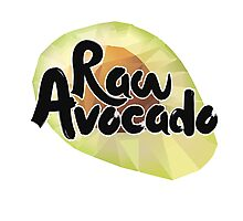 Raw Avocado Photographic Print