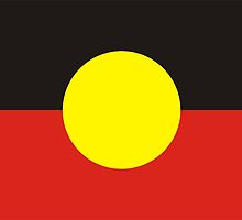 flag of aboriginal by tony4urban