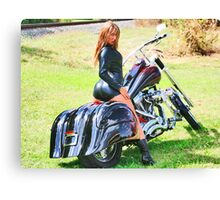 Chopper Girl Canvas Print