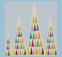 Geometric Multicolor Triangle Kids Tee