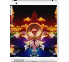 Music speaker on a cloud background iPad Case/Skin