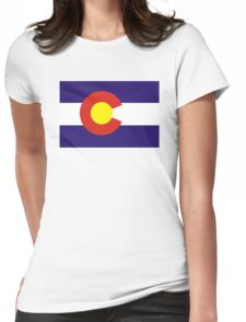 colorado state flag Womens Fitted T-Shirt