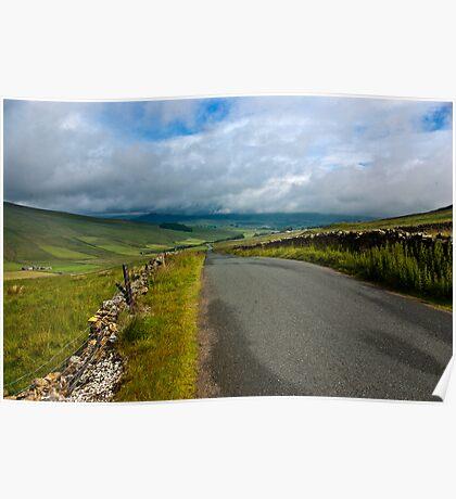 Baggamans Road  (Yorks Dales) Poster