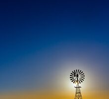 Afternoon light at the windmill -- 2.5 km north east of -- GLENGOWER, VIC, Australia by robinsonimagery